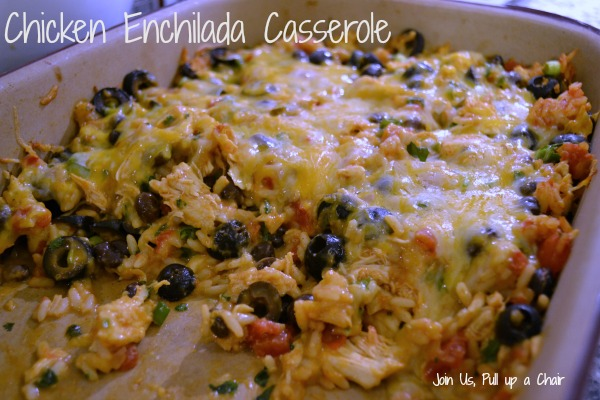Chicken Enchilada Casserole | Join Us, Pull up a Chair