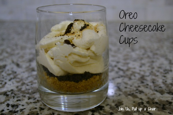 Oreo Cheesecake Cups | Join Us, Pull up a Chair
