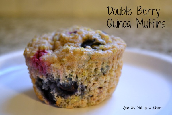 Double Berry Quinoa Muffins | Join Us, Pull up a Chair