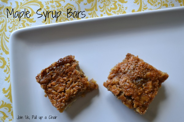 Maple Syrup Bars | Join Us, Pull up a Chair