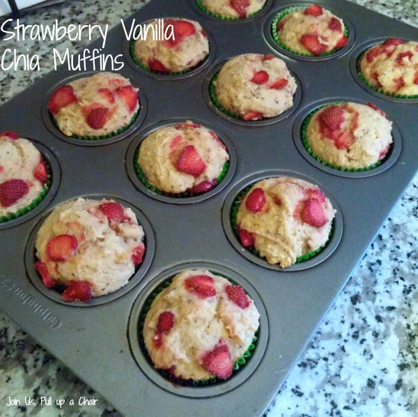 Strawberry Vanilla Chia Muffins | Join Us, Pull up a Chair