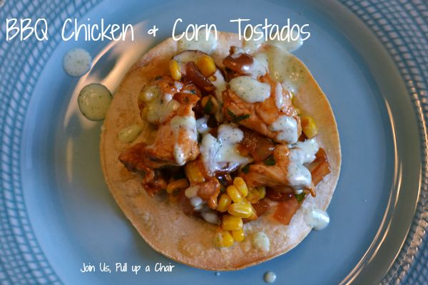 Barbecue Chicken Tostatas | Join Us, Pull up a Chair