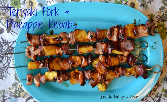 Teriyaki Pork & Pineapple Kebabs | Join Us, Pull up a Chair