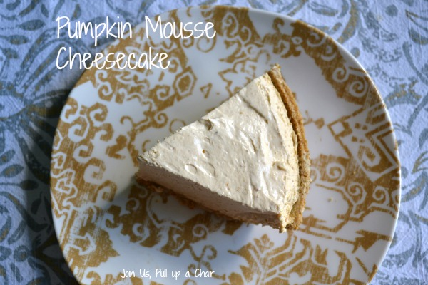 Pumpkin Mousse Cheesecake | Join Us, Pull up a Chair