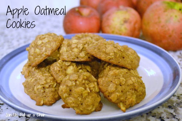 Apple Oatmeal Cookies #FilltheCookieJar - Join Us, Pull up a Chair