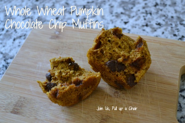 Whole Wheat Pumpkin Muffins | Join Us, Pull Up a Chair