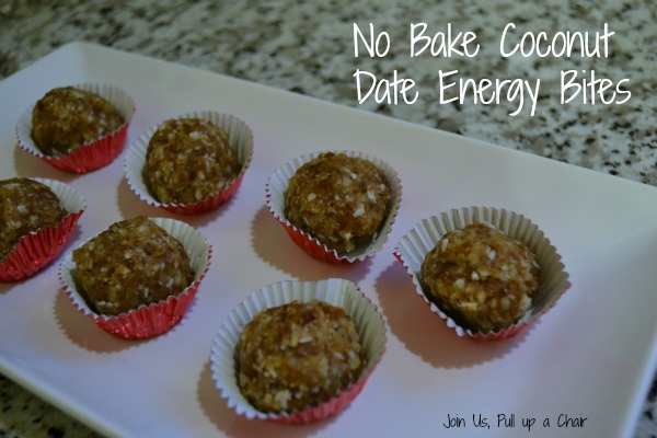 No Bake Coconut Date Energy Bites | Join Us, Pull up a Chair