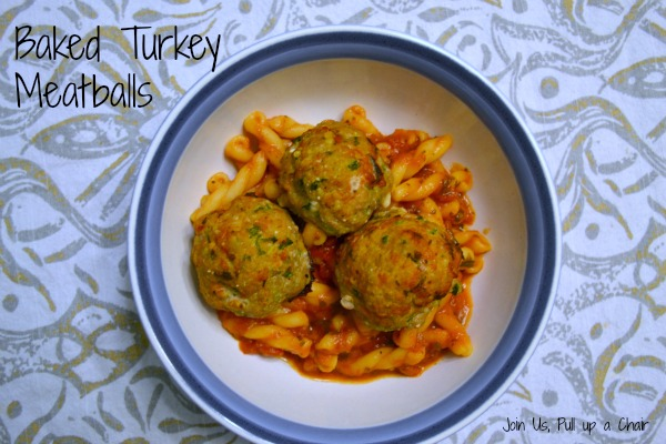 Baked Turkey Meatballs | Join Us, Pull up a Chair