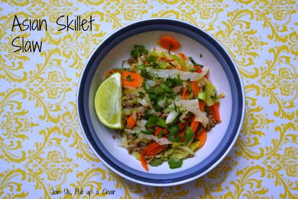 Asian Skillet Slaw | Join Us, Pull up a Chair
