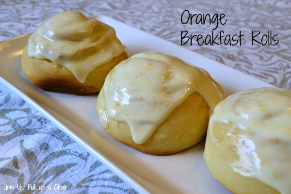 Orange Breakfast Roll | Join Us, Pull up a Chair