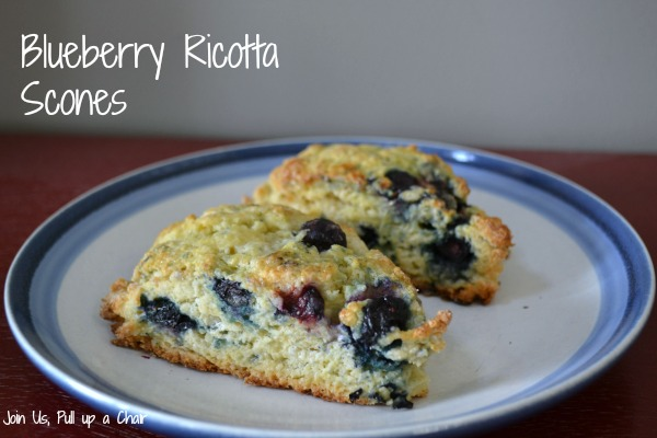 Blueberry Ricotta Scones | Join Us, Pull up a Chair
