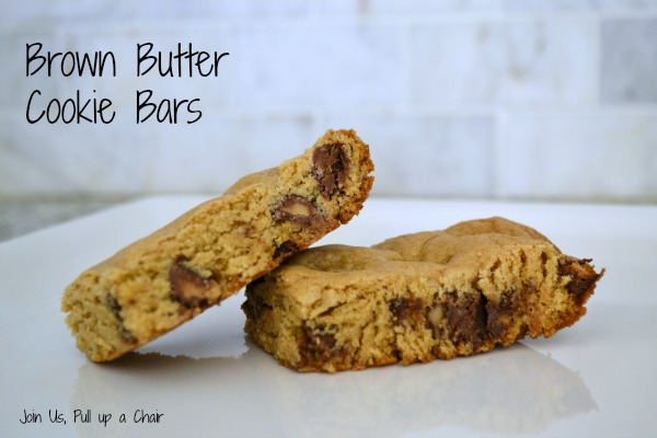 Brown Butter Cookie Bars   Join Us, Pull up a Chair
