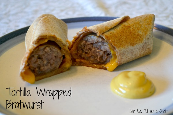 Tortilla Wrapped Bratwurst | Join Us, Pull up a Chair