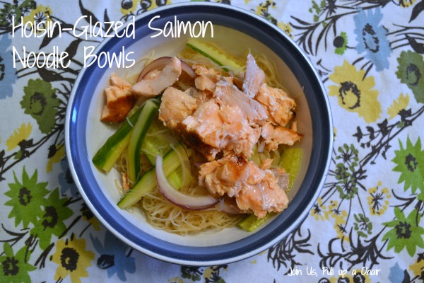 Hoisin Glazed Salmon Noodle Bowls | Join Us, Pull up a Chair