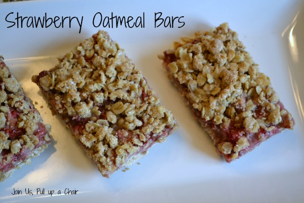 Strawberry Oatmeal Bars | Join Us, Pull up a Chair