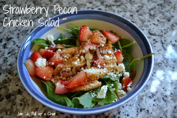 Strawberry Pecan Chicken Salad | Join Us, Pull up a Chair
