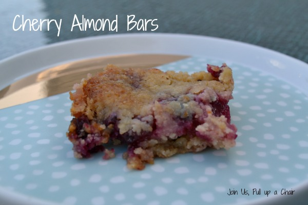 Cherry Almond Bars | Join Us, Pull up a Chair