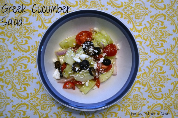 Greek Cucumber Salad | Join Us, Pull up a Chair