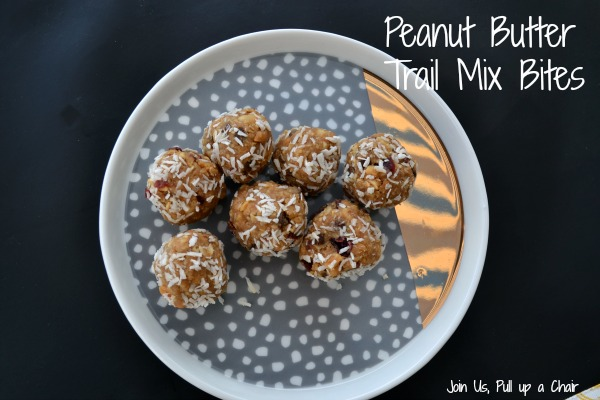 Peanut Butter Trail Mix Bites | Join Us, Pull up a Chair