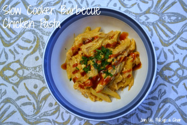 Slow Cooker Barbecue Chicken Pasta | Join Us, Pull up a Chair