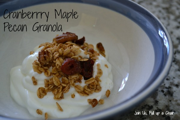 Cranberry Maple Pecan Granola | Join Us, Pull up a Chair