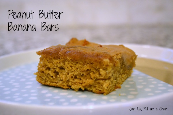 Peanut Butter Banana Bars | Join Us, Pull up a Chair #FilltheCookieJar
