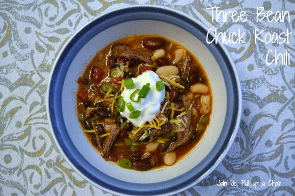 Three Bean Chuck Roast Chili | Join Us, Pull up a Chair
