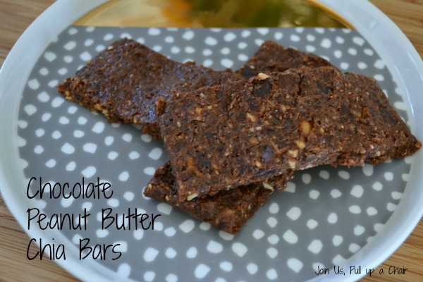 Chocolate Peanut Butter Chia Bars | Join Us, Pull up a Chair #FilltheCookieJar