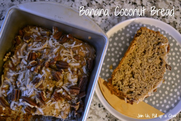 Banana Coconut Bread | Join Us, Pull up a Chair #secretrecipeclub