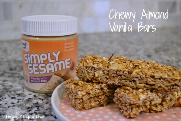 Chewy Almond Vanilla Bars | Join Us, Pull up a Chair