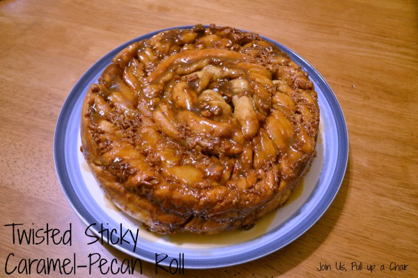 Twisted Sticky Caramel-Pecan Roll | Join Us, Pull up a Chair