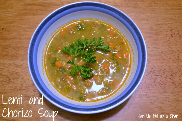 Lentil & Chorizo Soup | Join Us, Pull up a Chair