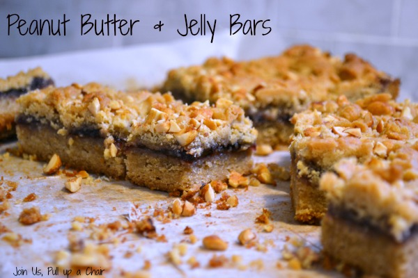 Peanut Butter and Jelly Bars | Join Us, Pull up a Chair #fantasticalfoodfight