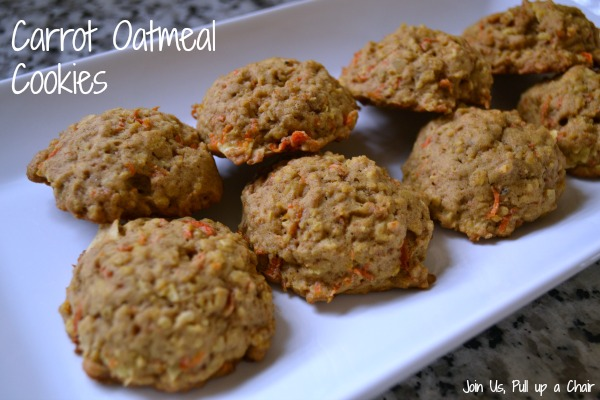Carrot Oatmeal Cookies | Join Us, Pull up a Chair #FilltheCookieJar
