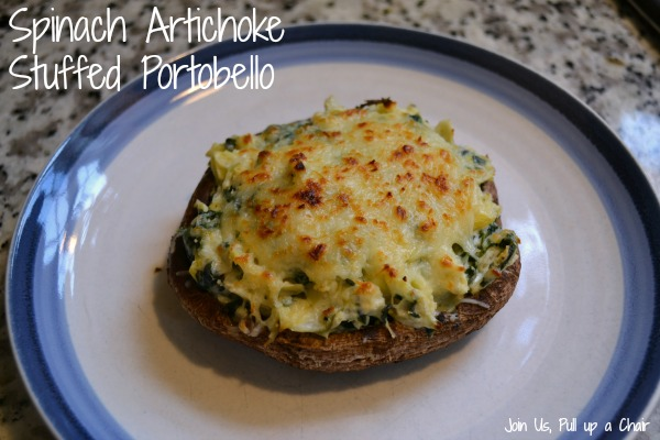 Spinach Artichoke Stuffed Portobello | Join Us. Pull up a Chair