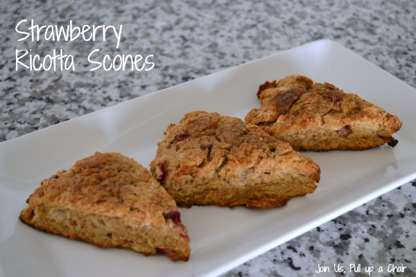 Strawberry Ricotta Scones | Join Us, Pull up a Chair