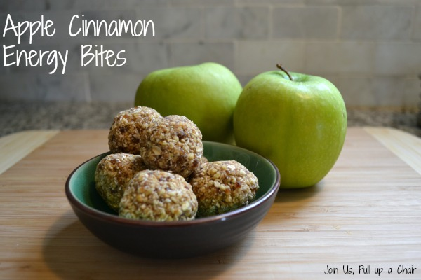 Apple Cinnamon Energy Bites | Join Us, Pull up a Chair