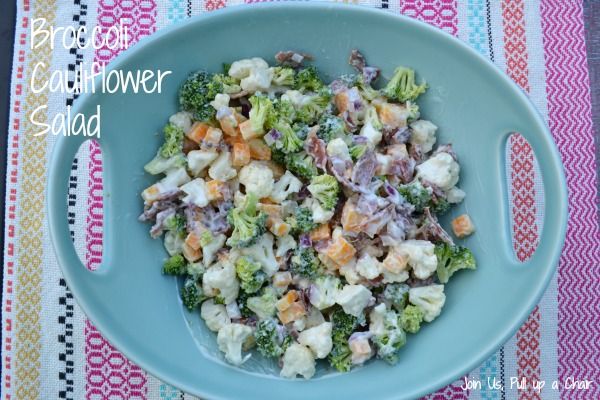 Broccoli Cauliflower Salad | Join Us, Pull up a Chair
