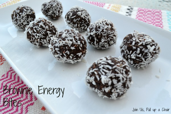 Brownie Energy Bites | Join Us, Pull up a Chair #FilltheCookieJar