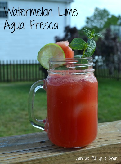 Watermelon Lime Aqua Fresca | Join Us, Pull up a Chair