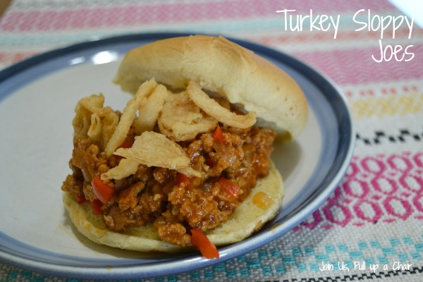 Turkey Sloppy Joes | Join Us, Pull up a Chair