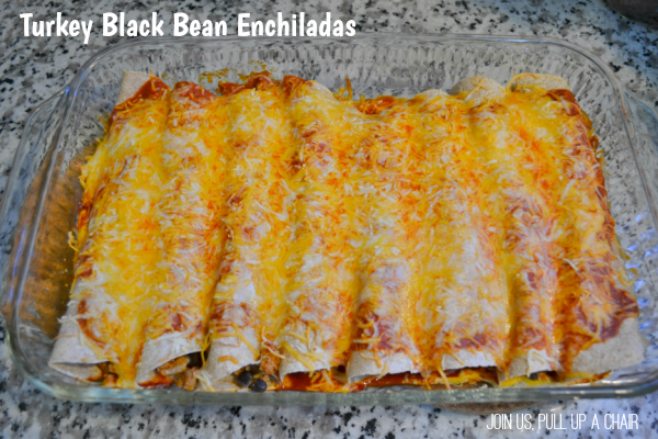 Turkey Black Bean Enchiladas | Join Us, Pull up a Chair