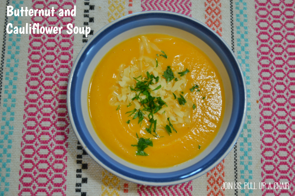 Butternut & Cauliflower Soup | Join Us, Pull up a Chair