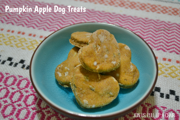 Pumpkin Apple Dog Treats | Join Us, Pull up a Chair
