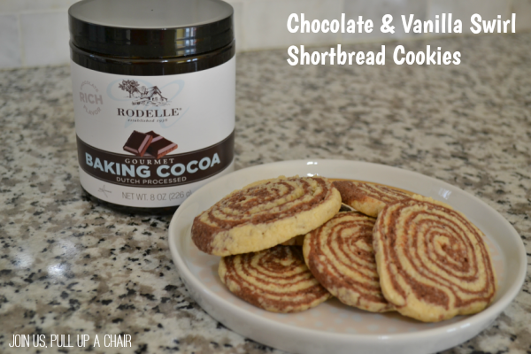 Chocolate & Vanilla Swirl Shortbread Cookies | Join Us, Pull up a Chair
