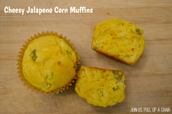 Cheesy Jalapeno Corn Muffins | Join Us, Pull up a Chair