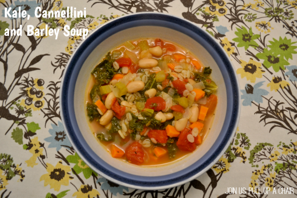 Kale, Cannellini and Barley Soup | Join Us, Pull up a Chair
