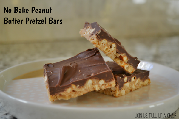 No Bake Peanut Butter Pretzel Bars | Join Us, Pull up a Chair