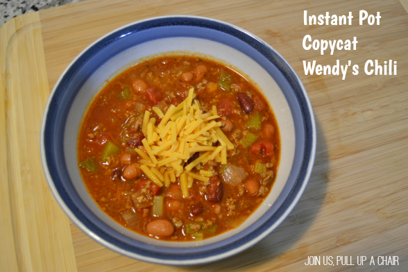 Instant Pot Copycat Wendy's Chili | Join Us, Pull up a Chair