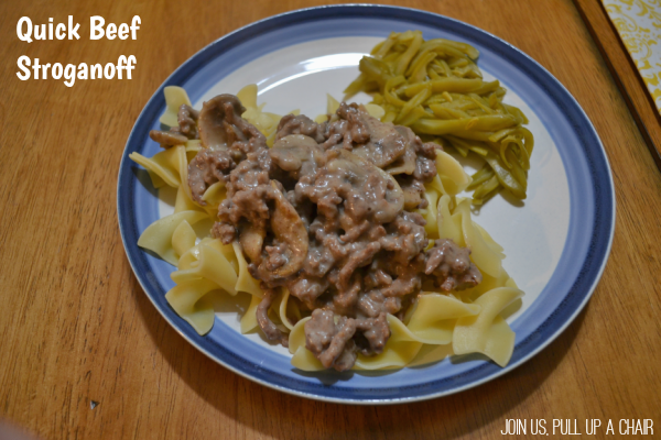 Quick Beef Stroganoff | Join Us, Pull up a Chair